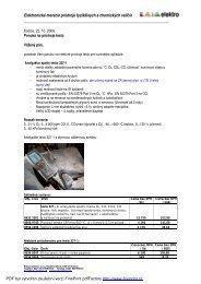 Elektronické meracie prístroje fyzikálnych a ... - KALA elektro