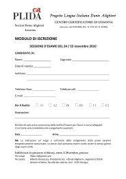 ISCRIZIONE esame PLIDA - Società Dante Alighieri