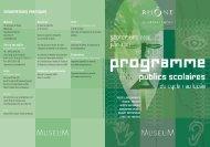Programme à télécharger - musée des Confluences