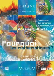 Dossier culturel - musée des Confluences