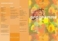Programme culturel à télécharger - musée des Confluences