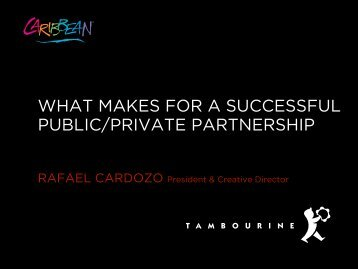 what makes for a successful public/private partnership