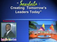 """"""" : Creating Tomorrow's Leaders Today"""" - Caribbean Tourism ..."""