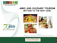 agro and culinary tourism getting to the next level - Caribbean ...