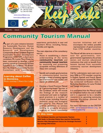 Community Tourism Manual Community Tourism Manual