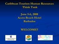 Tourism Human Resource Think Tank - Caribbean Tourism ...