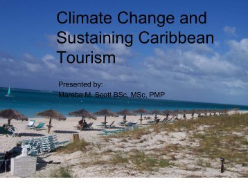 Climate Change and Sustaining Caribbean Tourism