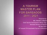 Tourism Master Plan for Barbados - Caribbean Tourism Organization