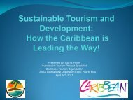 Sustainable Tourism Product Specialist - Caribbean Tourism ...