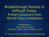 Breakthrough Results in Difficult Times: - Caribbean Tourism ...