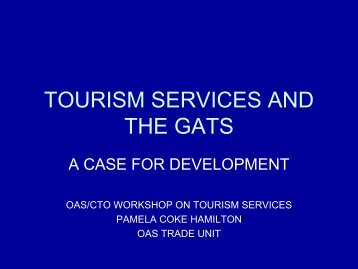 tourism services and the gats - Caribbean Tourism Organization