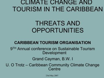 climate change and tourism in the caribbean threats and opportunities