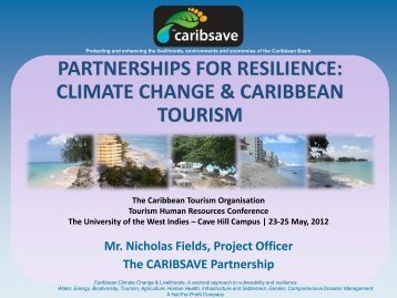 partnerships for resilience: climate change & caribbean tourism
