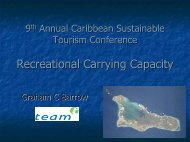 Recreational Carrying Capacity - Caribbean Tourism Organization