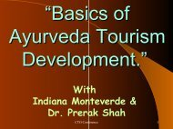Seminar 1 The Art of Life & Ayurveda Introduction to Panchkarma
