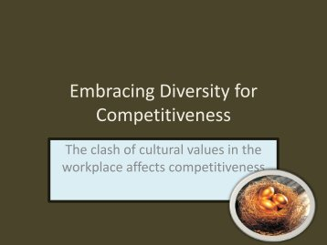 Embracing Diversity for Competitiveness - Caribbean Tourism ...