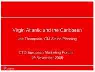 Virgin Atlantic and the Caribbean