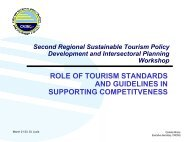 role of tourism standards and guidelines in supporting competitveness