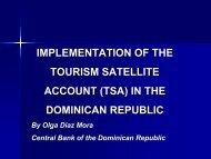 implementation of the tourism satellite account (tsa) - Caribbean ...