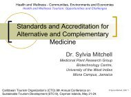 Standards and Accreditation for Alternative and Complementary ...