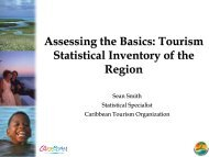 Assessing the Basics - Caribbean Tourism Organization