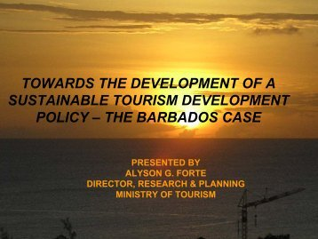towards the development of a sustainable tourism development policy