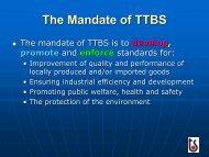 The Mandate of TTBS - Caribbean Tourism Organization