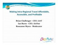 Making Intra-Regional Travel Affordable, Accessible, and Profitable