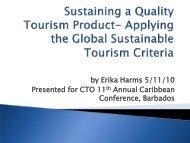 Global Sustainable tourism Criteria - Caribbean Tourism Organization