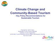 Climate Change and Community-Based Tourism - Caribbean ...