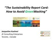 """""""The Sustainability Report Card: How to Avoid GreenWashing"""""""