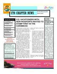 View CTO Chapter Newsletter - 2007 - Caribbean Tourism ...