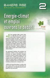 energie‑climat et emploi ouvrons le débat ! - RISE