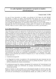 le cadre législatif international et européen en matière - RISE