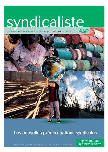 CSC syndicaliste : Les nouvelles préoccupations syndicales - RISE