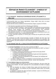 Syndicat et environnement en Flandre - RISE