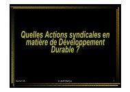 Quelles Actions syndicales en matière de Développement ... - RISE