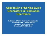 Application of Stirling Cycle Generators in Production ... - RMOTC