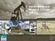Fossil & renewable energy partnership opportunities - RMOTC