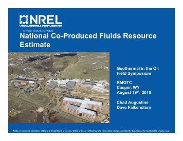 NREL National Co-Production Resource Estimate - RMOTC - U.S. ...