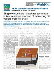 Single well, single gas phase technique is key to unique method of ...