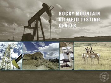 Rocky Mountain Oilfield Testing Center RMOTC at the Naval ...