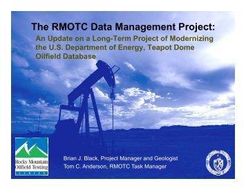 The RMOTC Data Management Project: - RMOTC - U.S. Department ...