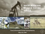 Fossil & Renewable Energy Scoping Meeting - RMOTC