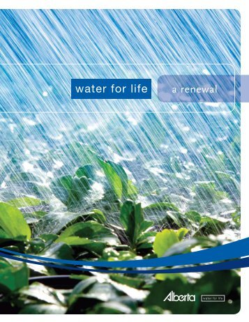 Water for Life - Alberta Environment - Government of Alberta