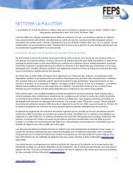 NETTOYER LA POLLUTION - Safe Drinking Water Foundation