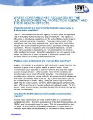 water contaminants regulated by the us environmental protection