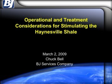 Operational and Treatment Considerations for Stimulating the ...