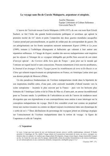 Le voyage sans fin de Curzio Malaparte, arpenteur et utopiste