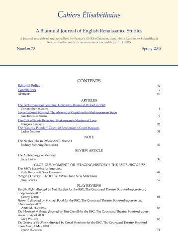 Spring 2008 (pdf) - La recherche à l'UPV - Université Paul Valéry